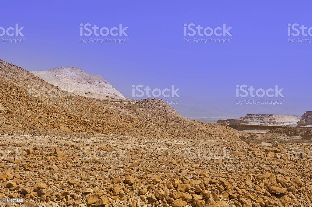 Fog in Desert royalty-free stock photo