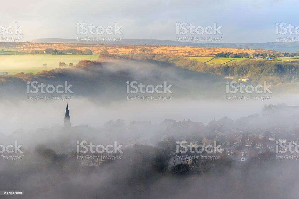 Fog in Halifax stock photo