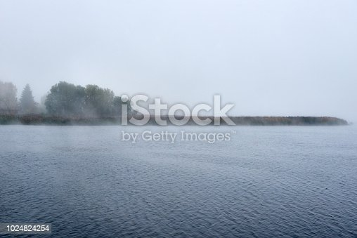 istock Fog in the autumn over the lake. 1024824254