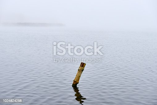 istock Fog in the autumn over the lake. 1024824258