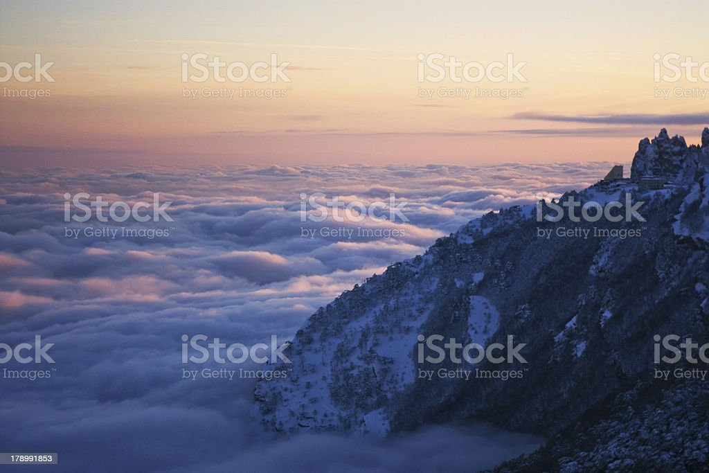 Fog in the mountains royalty-free stock photo
