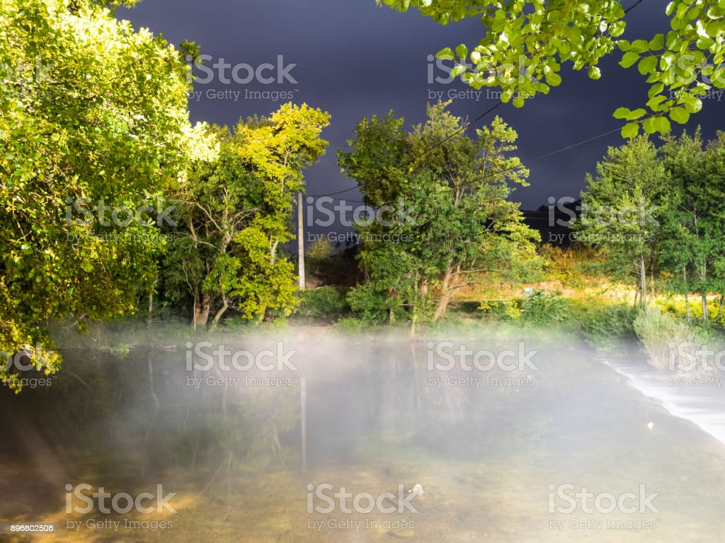 Fog in the River stock photo