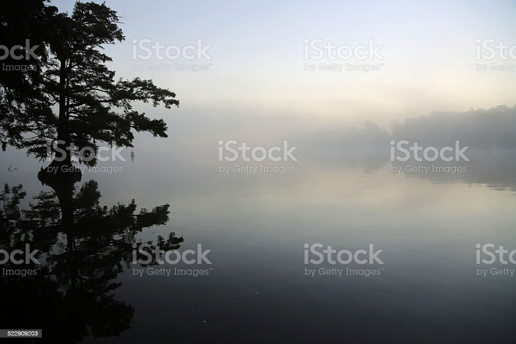 Fog is coming stock photo