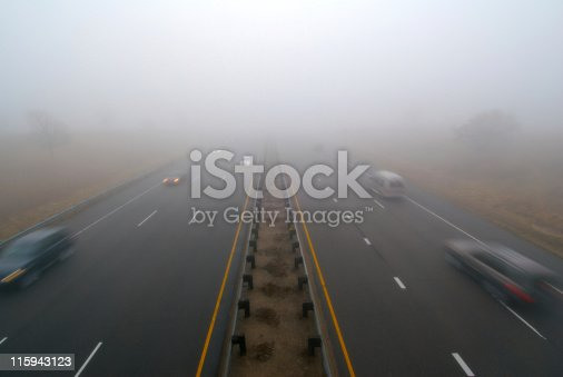 1054750504 istock photo Fog on highway 115943123