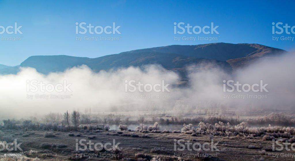 Fog on Land stock photo