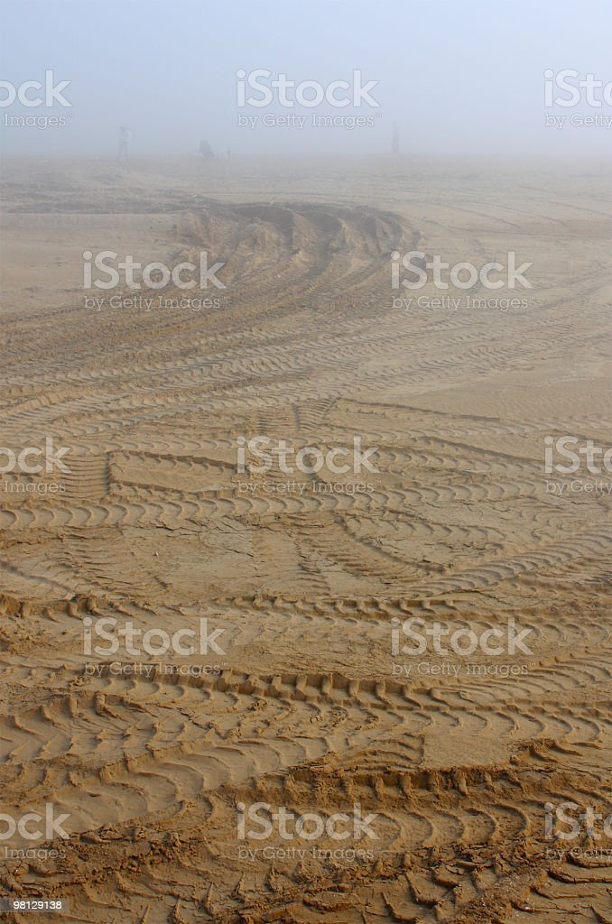 Fog on the beach royalty-free stock photo