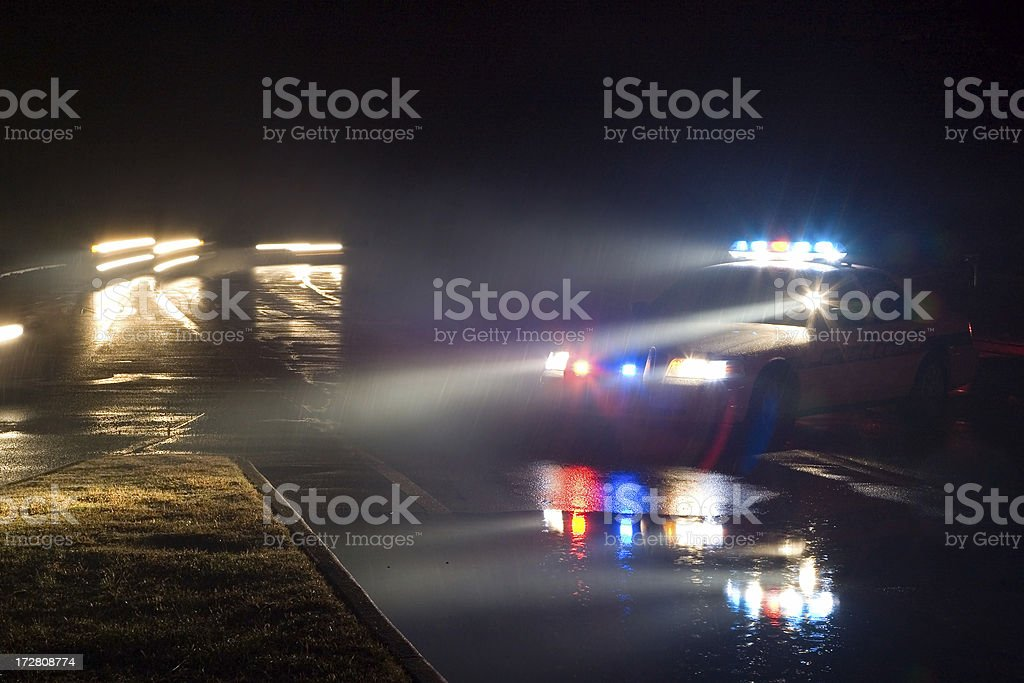 Fog on the Lights stock photo