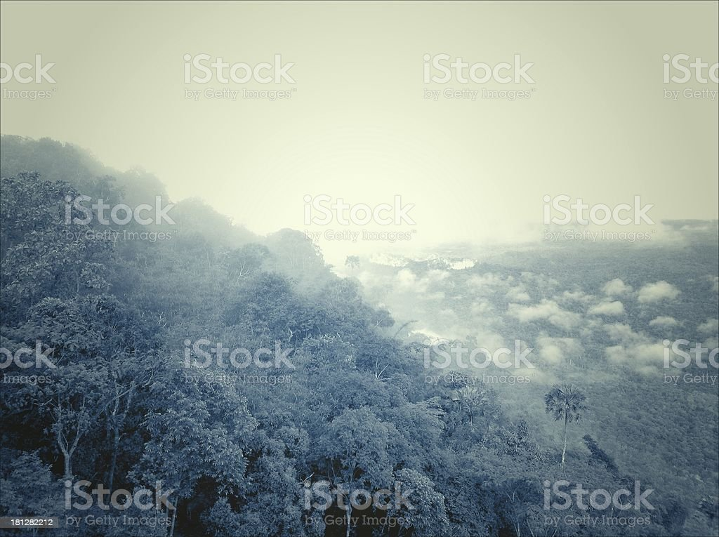 Fog on the mountains royalty-free stock photo