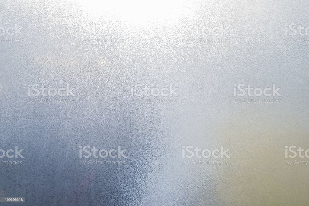 fog on window glass stock photo