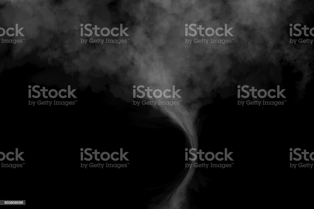 Fog or Smoke effect on black Background stock photo