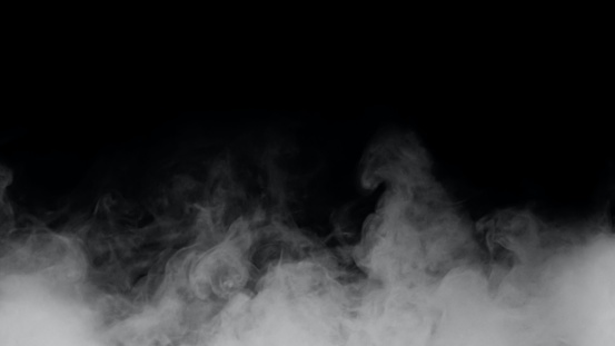 Fog or white smoke on a black background Can be combined with your work