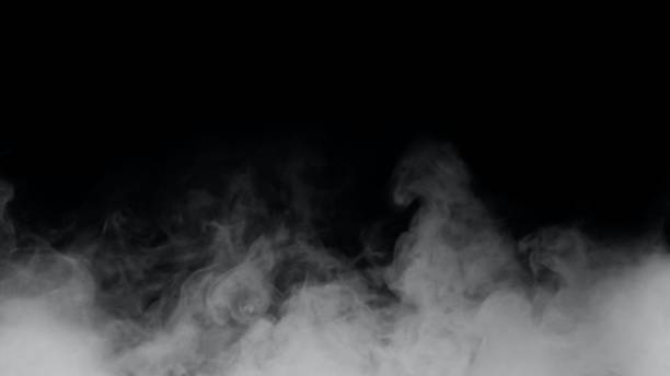 Fog or white smoke on a black background Fog or white smoke on a black background Can be combined with your work smoking activity stock pictures, royalty-free photos & images