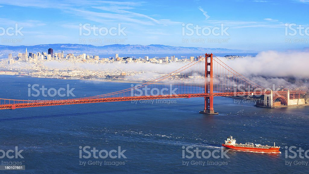 Fog over San Francisco royalty-free stock photo