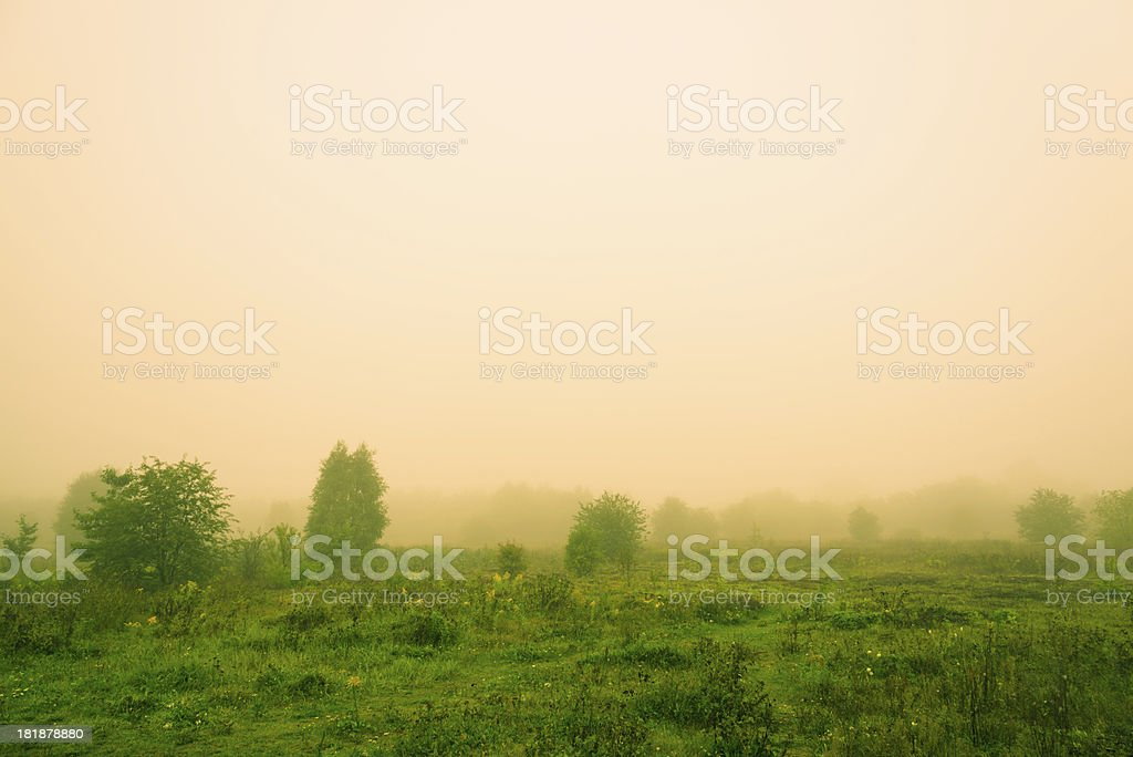 Fog Over the Lea - 36 Mpx royalty-free stock photo