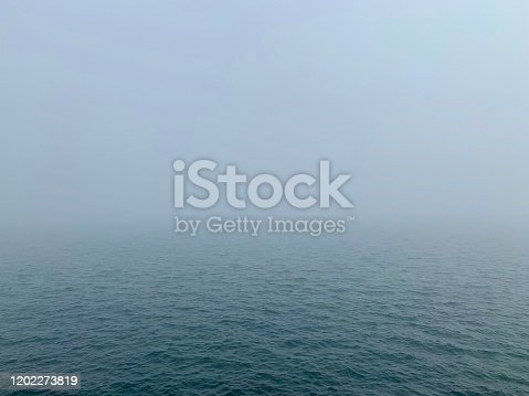 Foggy weather at the Black Sea, Europe.