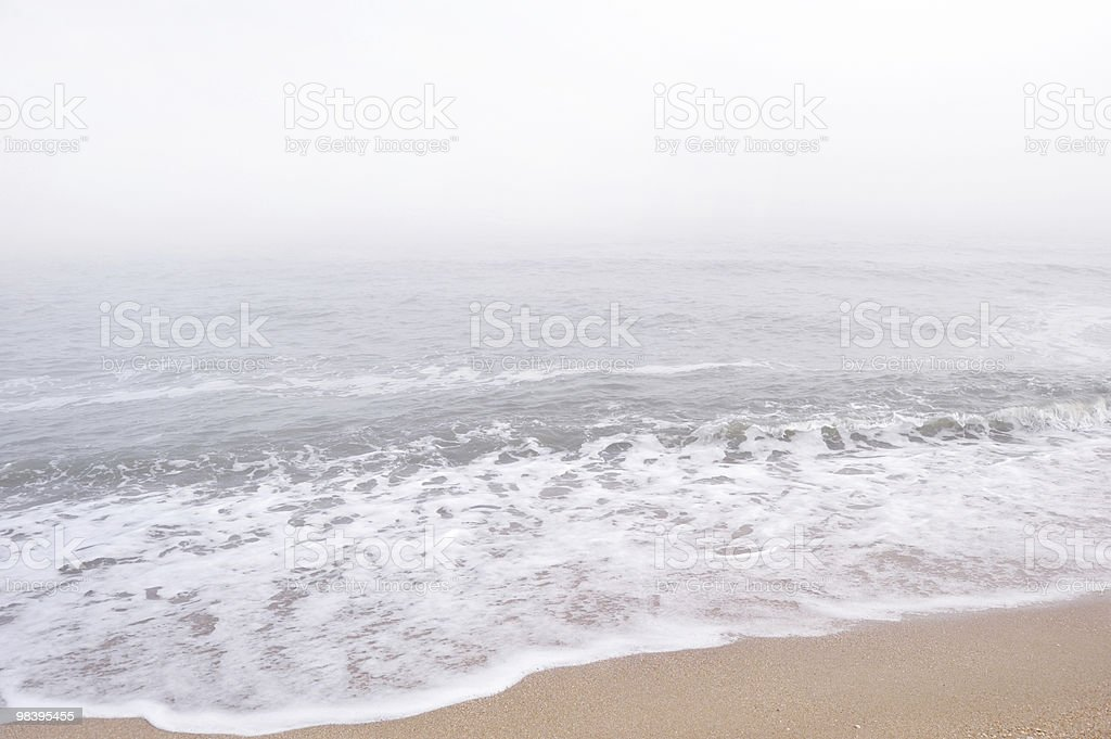 Fog over the sea royalty-free stock photo