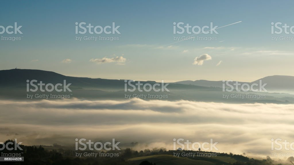 Fog over the Shannon River royalty-free stock photo