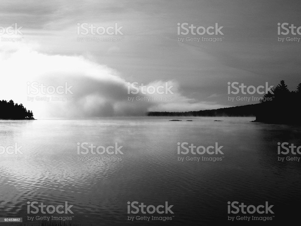 Fog Rolling In royalty-free stock photo