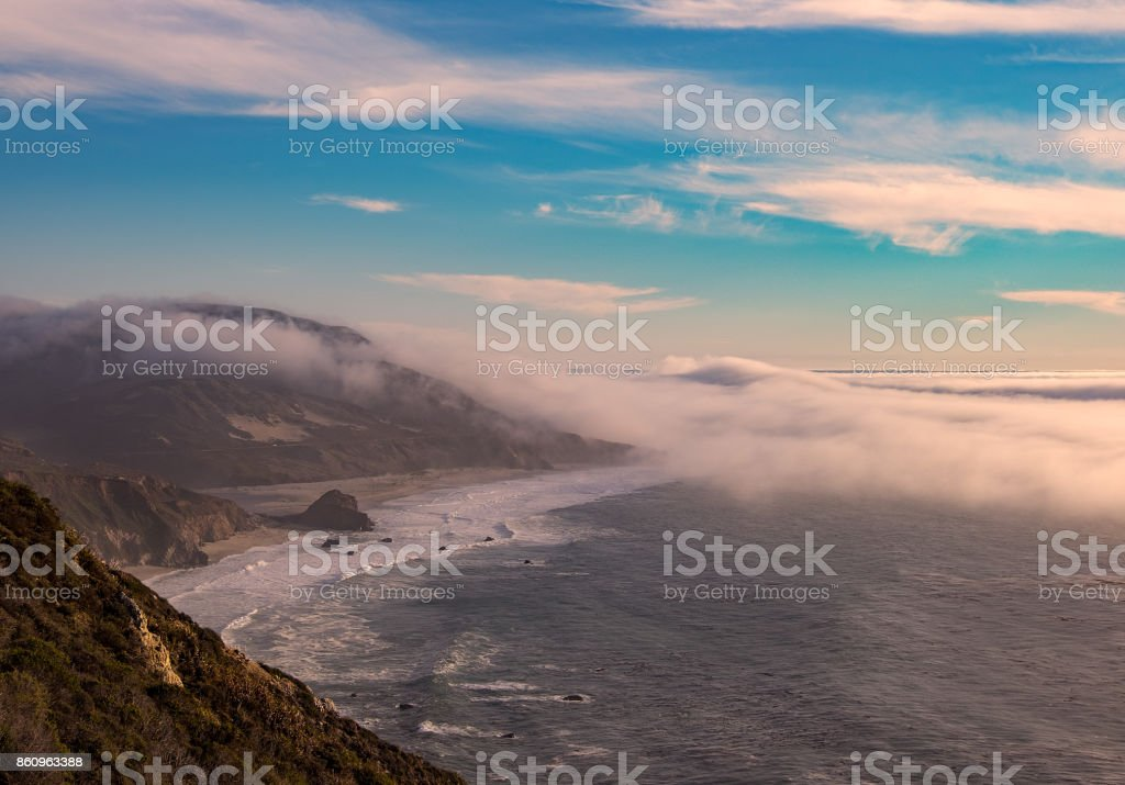 Fog Rolls In At Big Sur stock photo