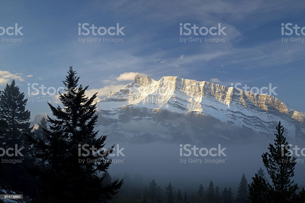 Fogged in Mountain royalty-free stock photo