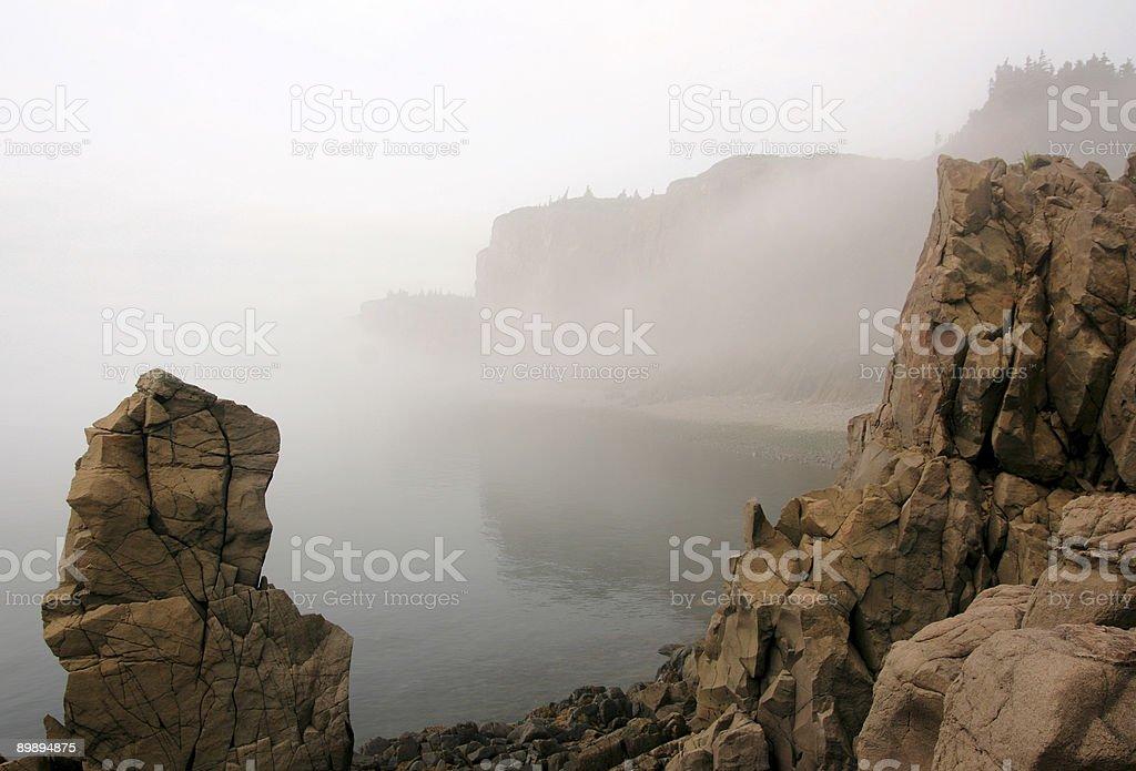 Foggy Cape d ' or Lizenzfreies stock-foto