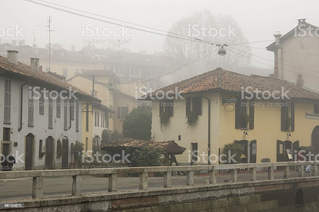 Foggy day in Milan - Italy royalty-free stock photo