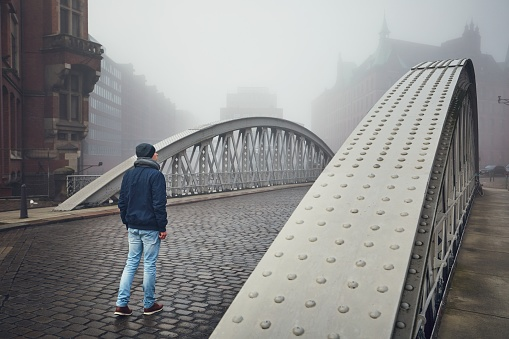 Foggy day in the city