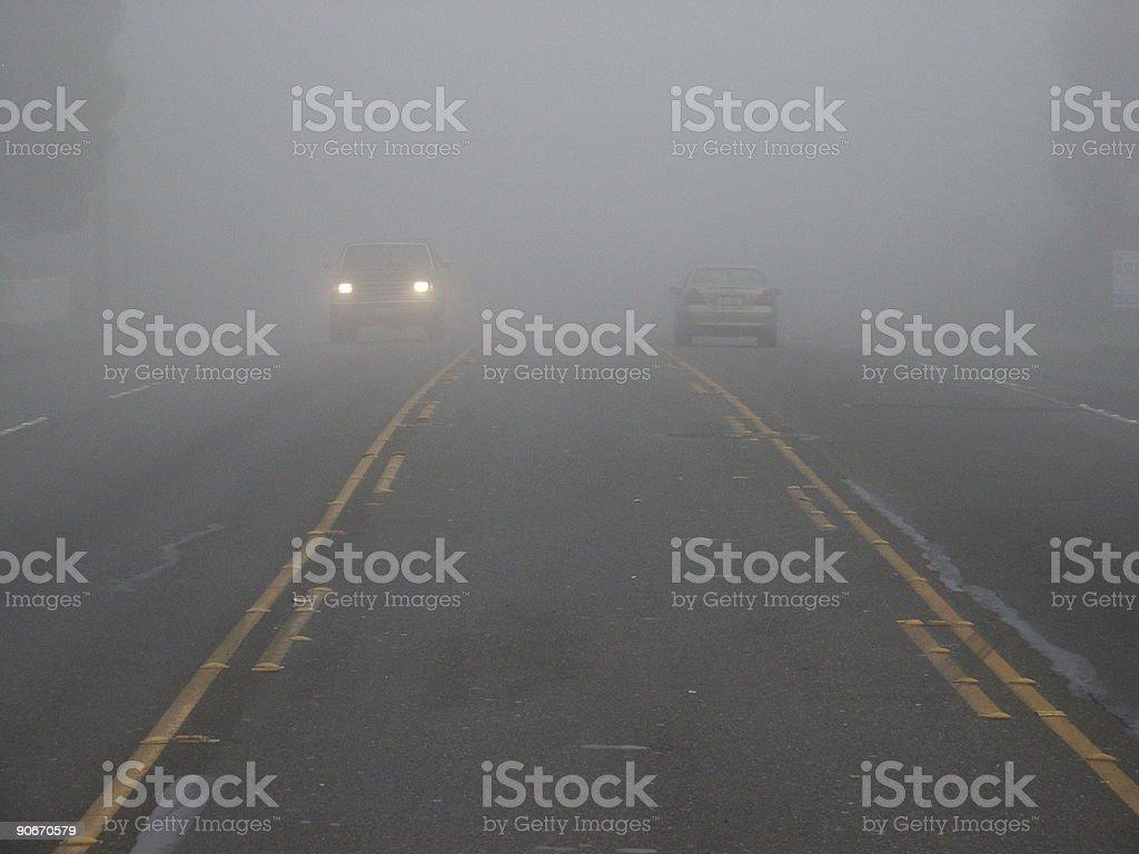 Foggy Drive B royalty-free stock photo