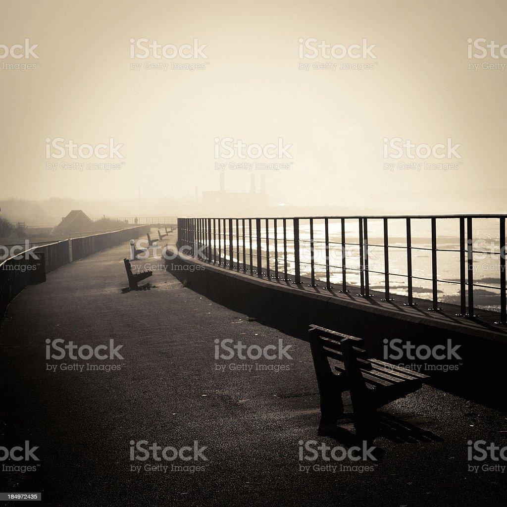 Foggy Footpath stock photo