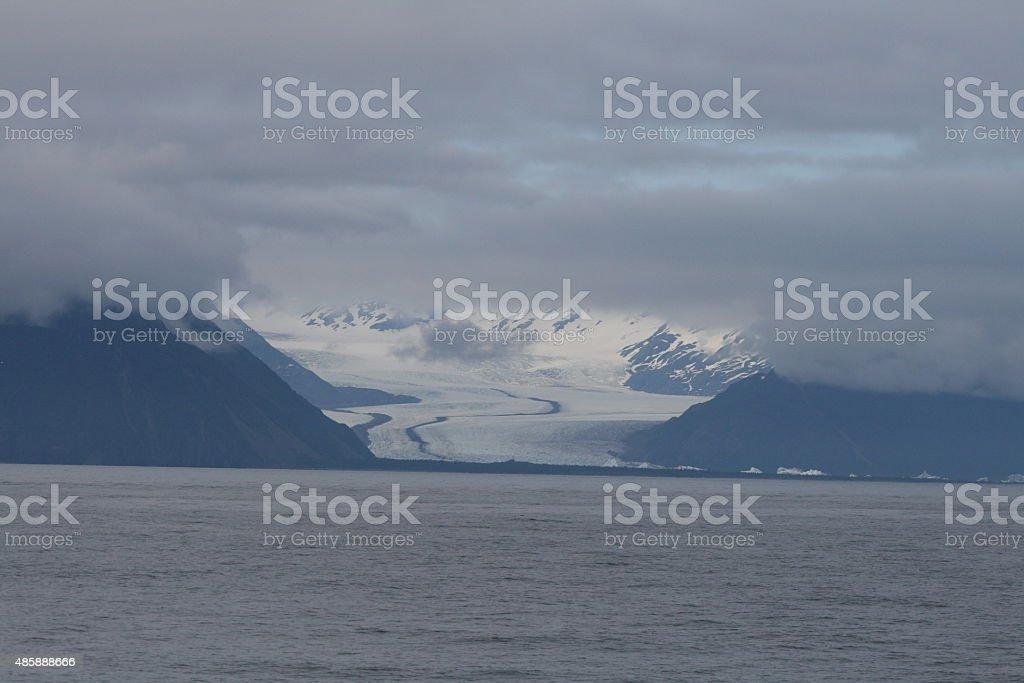 Foggy Glacier stock photo