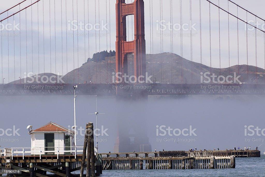 Foggy Golden Gate Bridge stock photo