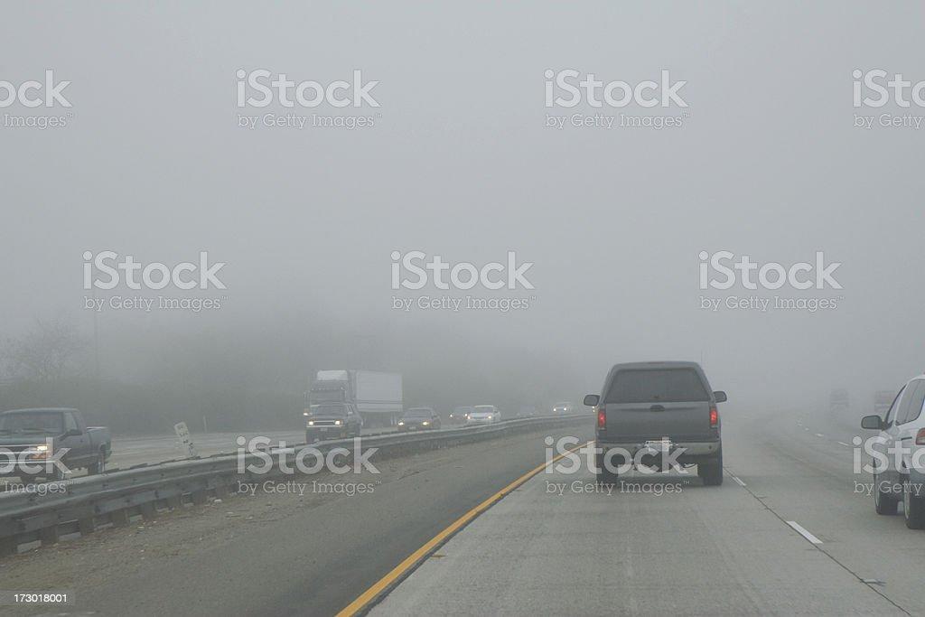 Foggy Highway royalty-free stock photo