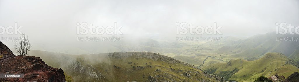 Foggy hills stock photo