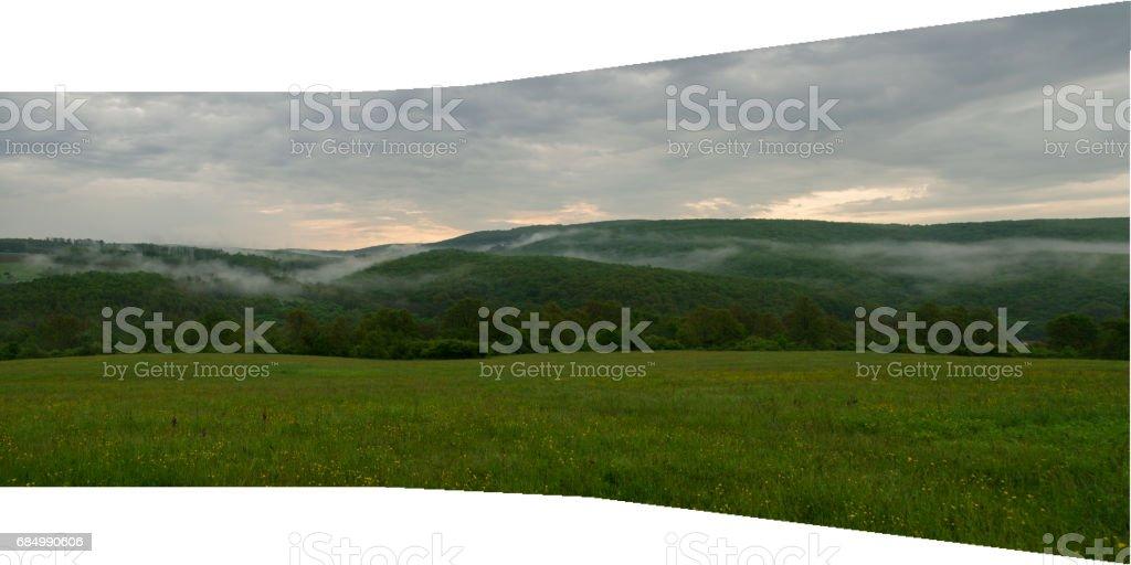 Neblig Land Lizenzfreies stock-foto