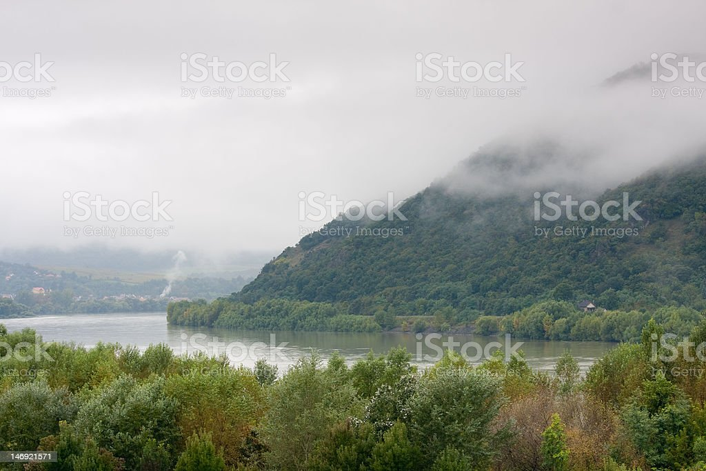 foggy landscape royalty-free stock photo