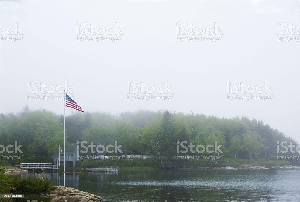 Foggy Maine coast royalty-free stock photo
