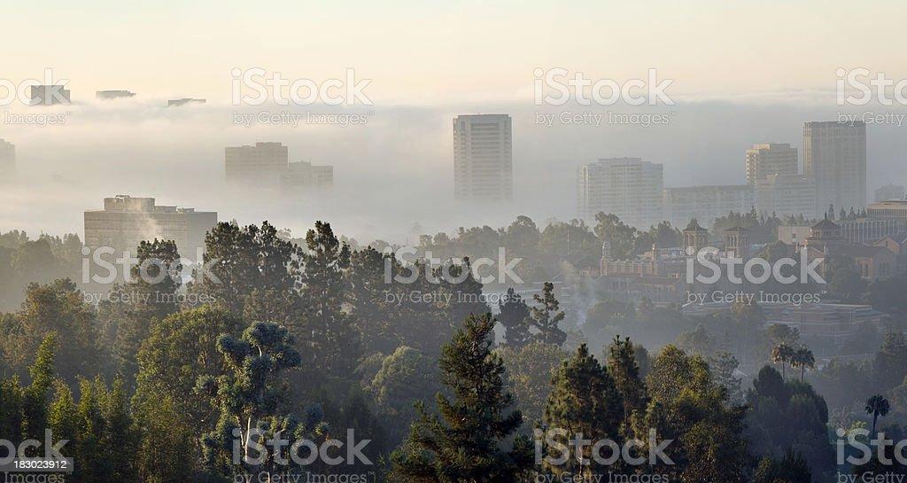 foggy morning city-scape XXXL royalty-free stock photo
