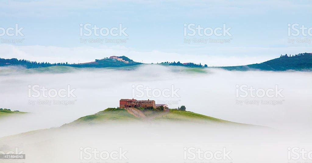 foggy morning in Tuscany royalty-free stock photo
