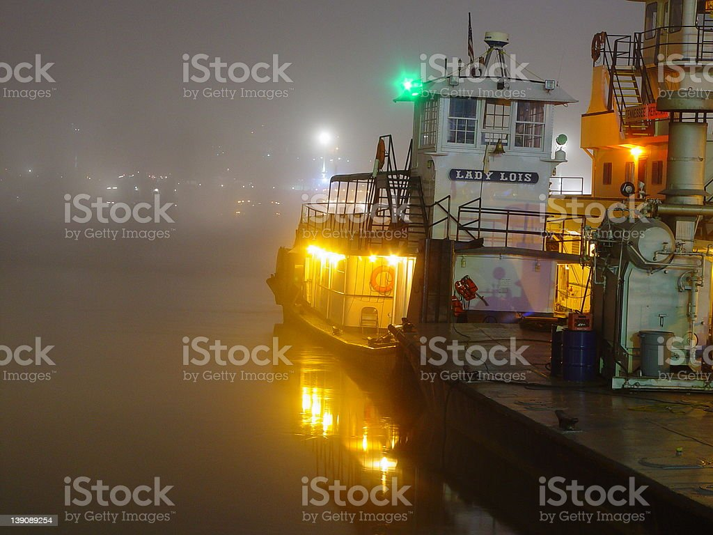 Foggy Morning Lights royalty-free stock photo