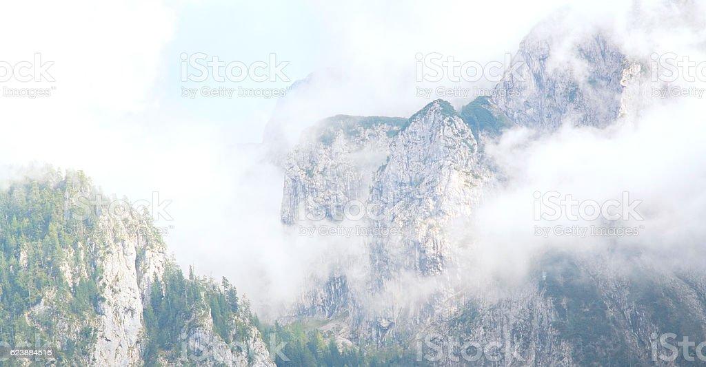foggy mountains in the alps Lizenzfreies stock-foto
