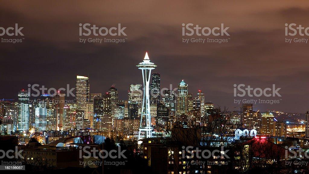 Foggy Nacht in Seattle – Foto
