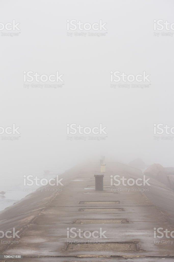 Foggy Pier stock photo