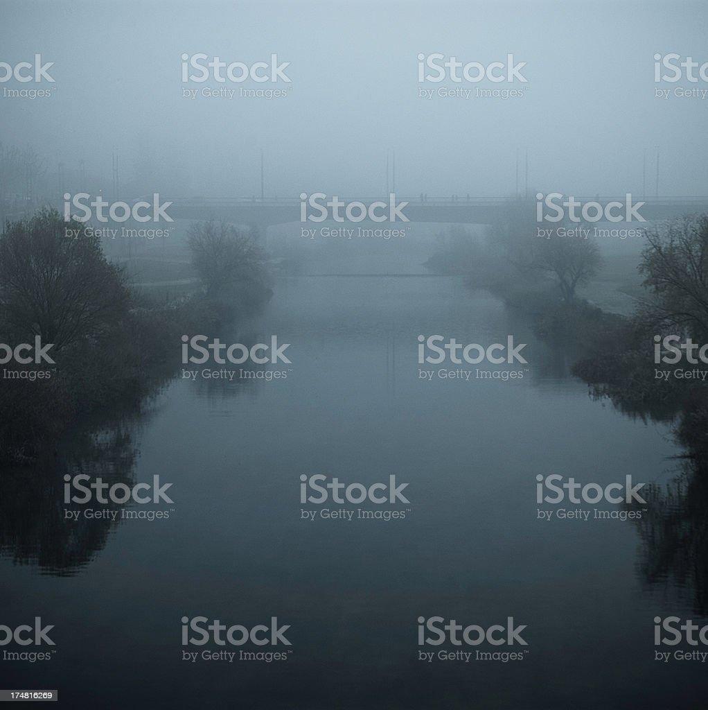 Foggy River royalty-free stock photo