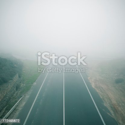 Foggy scene during the winter