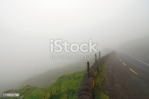 Foggy Road in Ireland