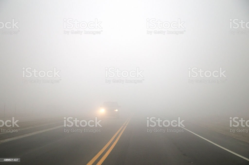 Foggy Roads stock photo