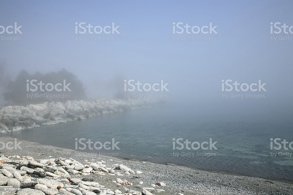 Foggy Shore royalty-free stock photo