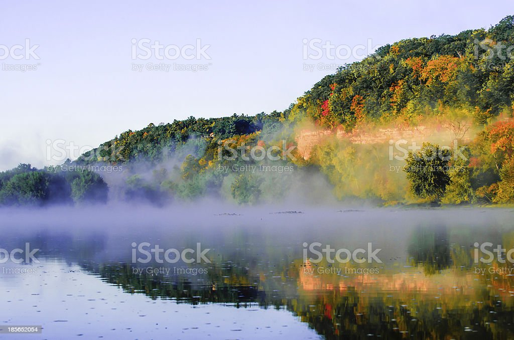 Foggy Sunrise stock photo