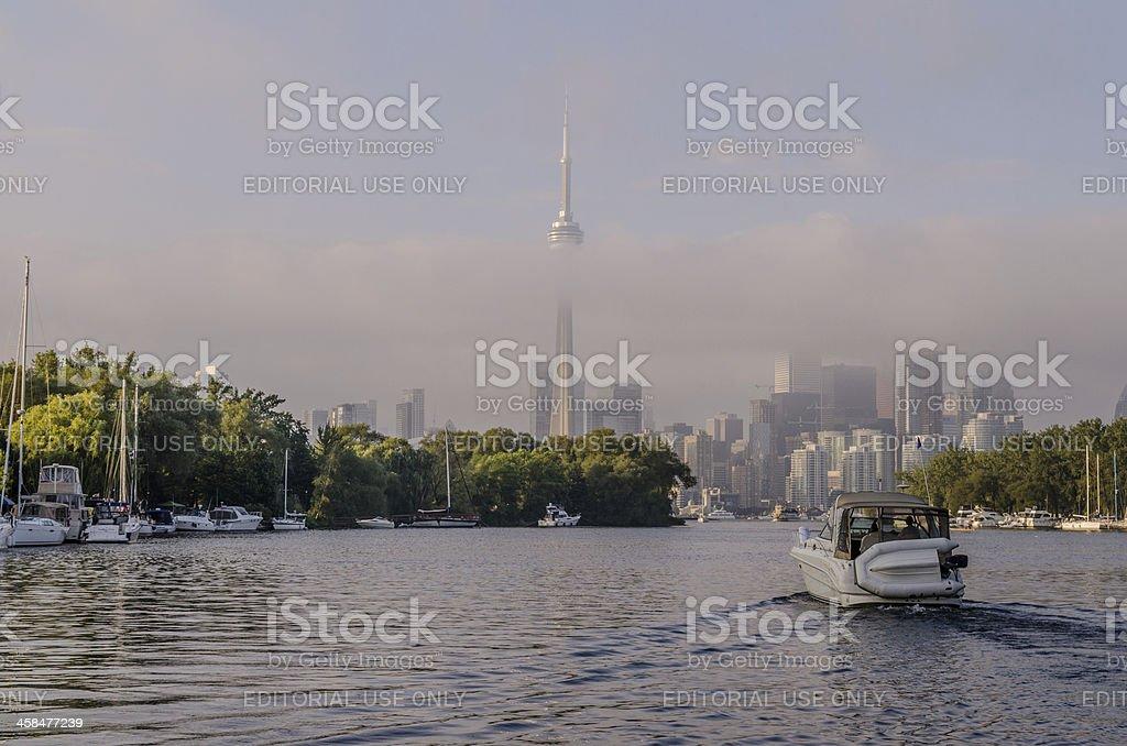 Foggy Toronto Skyline stock photo