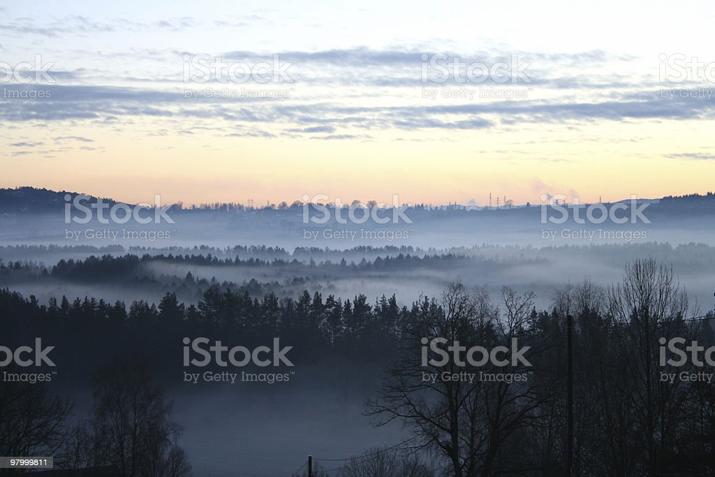 Foggy vally royalty-free stock photo